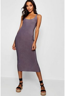 Womens Petrol Tall Slinky Midi Dress