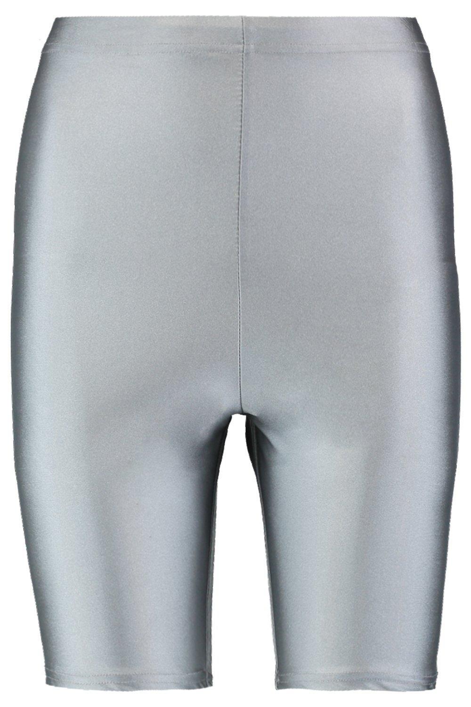 brillantes ciclista Pantalones plateado Tall muy cortos de wqIxgvT7