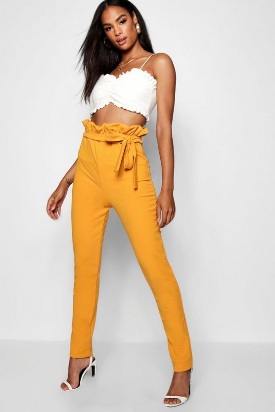 Womens Tall Belted Skinny Pants
