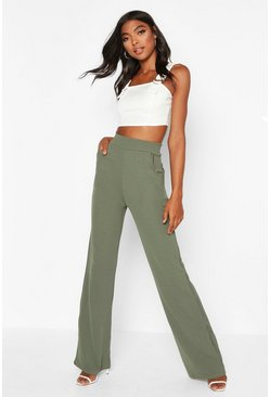 Sage Tall  High Waisted Leg Trousers