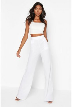 Tall – High-Waist Hose, Weiß