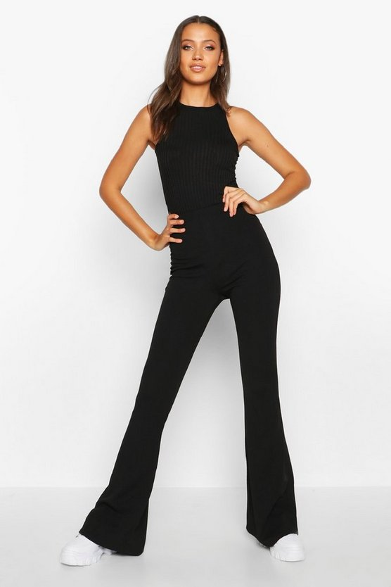 Black Tall  Stretch Skinny Flares