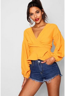 Womens Tangerine Tall Off The Shoulder Blouse