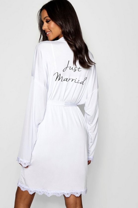 Tall Just Married Bridal Dressing Gown