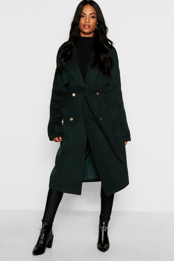 Tall Double Breasted Wool Look Coat