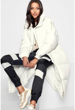 Dam White Tall Longline Padded Coat