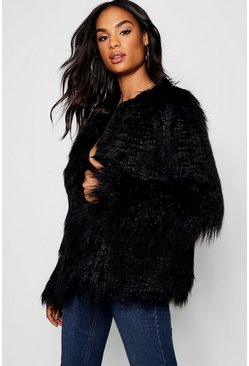 Womens Tall Mongolian Faux Fur Coat