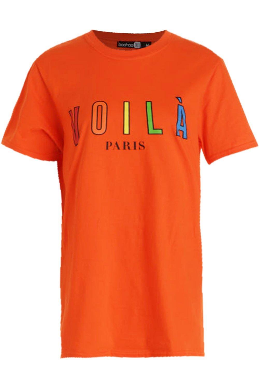 """gráfico con arcoiris eslogan Camiseta de """"Voila vPYqInzw"""