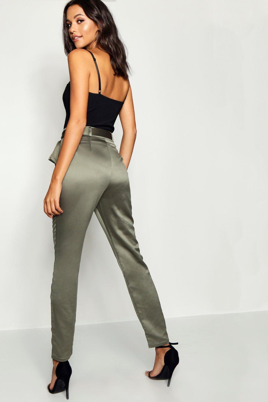 tejidos cinturón Pantalones khaki con Tall nXf7fBq