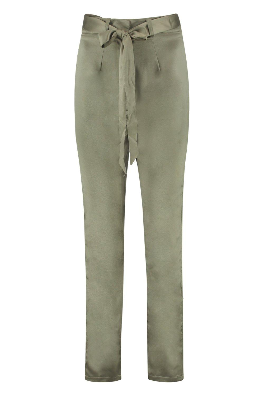 Tall khaki tejidos Pantalones con cinturón Aq00Zz