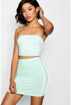 Womens Mint Tall Jersey Bandeau