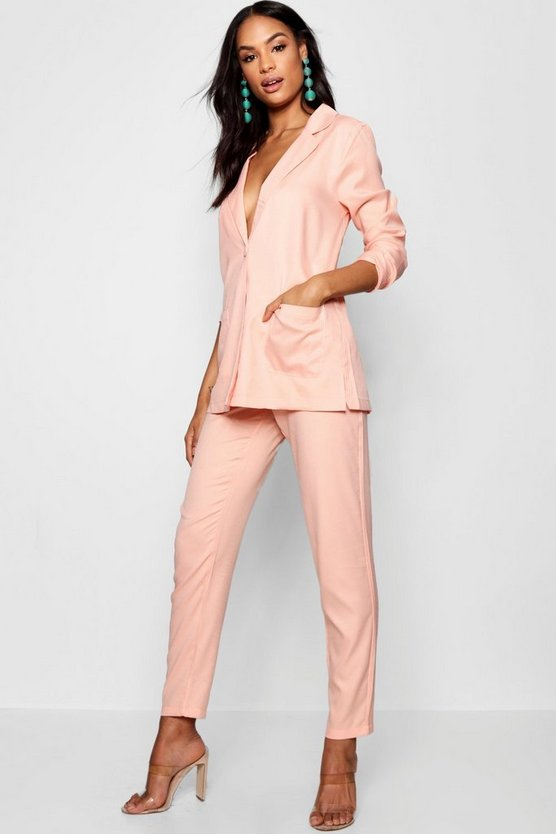 Womens Blush Tall Boyfriend Blazer