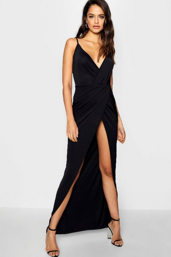 Tall Drape Wrap Maxi Dress