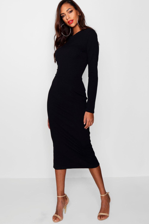 29cadf37c6fc Womens Black Tall Tailored Midi Dress