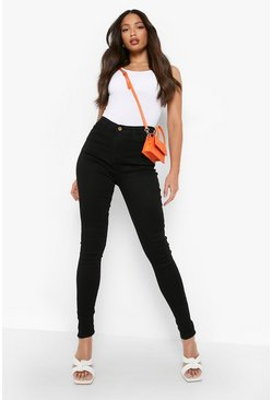 Black Tall - Stretchiga skinny jeans i 5-ficksmodell