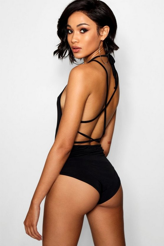 Tall Backless Strappy Bodysuit