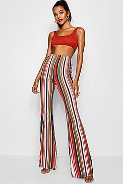 60s – 70s Pants, Jeans, Hippie, Bell Bottoms, Jumpsuits Tall Stripe Flares $24.00 AT vintagedancer.com