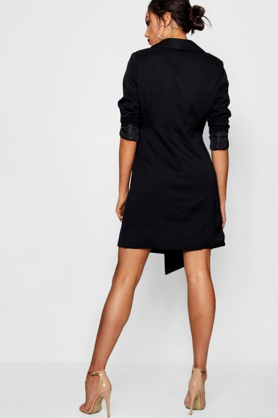 Tall Wrap Asymmetric Blazer Dress