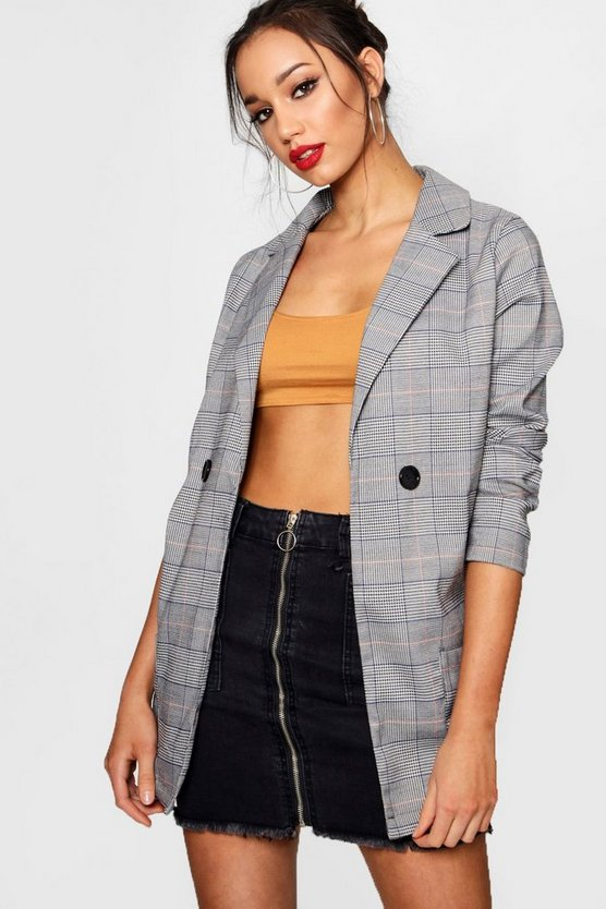 Tall Check Boyfriend Blazer