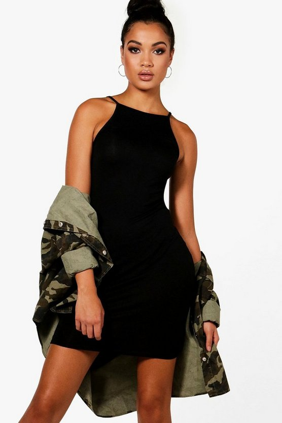 Tall High Neck Cami Bodycon Dress