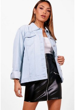 Womens Blue Tall Denim Jacket