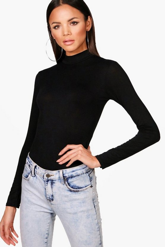 Tall Turtle Neck Long Sleeve Bodysuit
