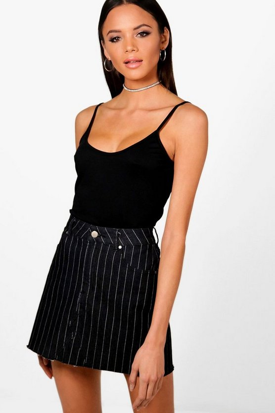 Tall Fine Strap Basic Vest Top