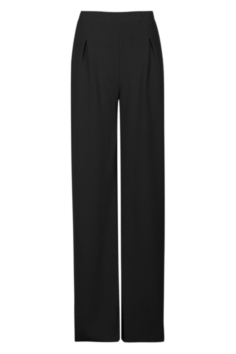 NEW-Boohoo-Womens-Tall-Wide-Leg-Pleat-Front-Trousers-in-Polyester