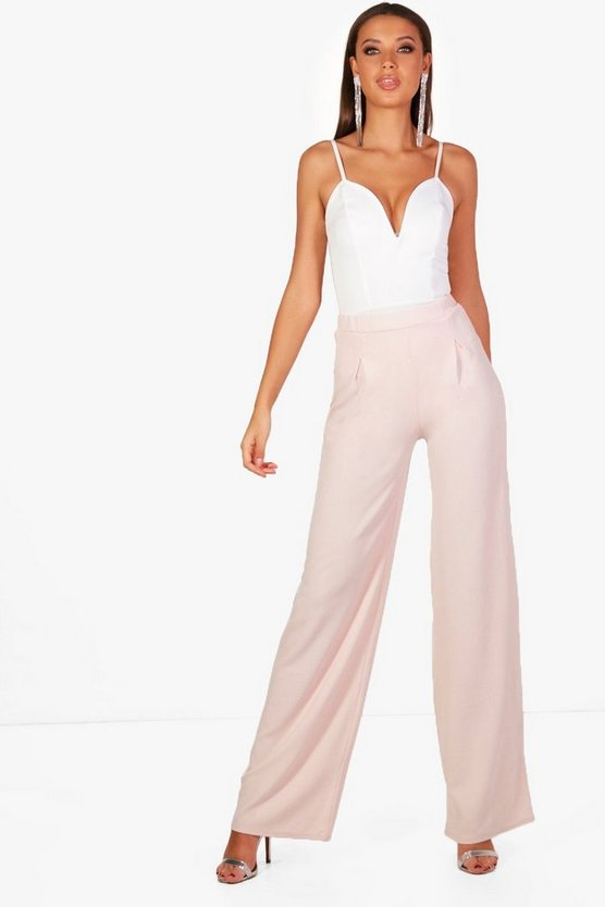 Tall Wide Leg Pleat Front Pants