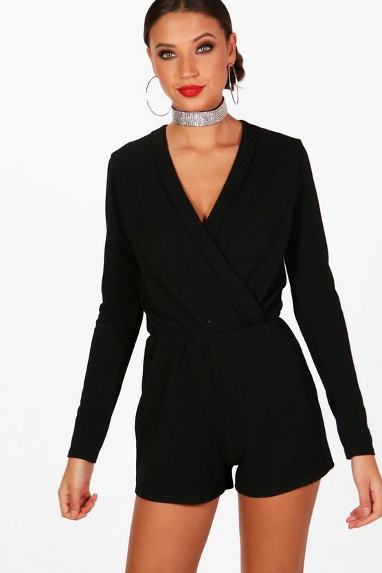 Tall Wrap Front Playsuit