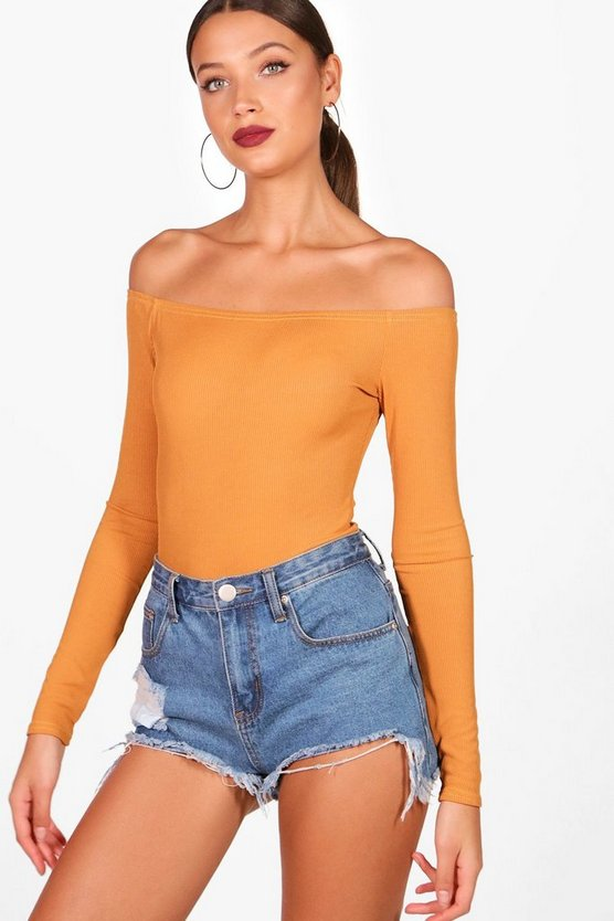 Tall Rib Off The Shoulder Bodysuit
