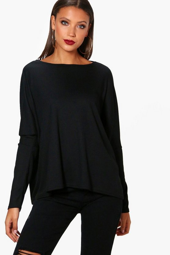 Tall Evie Oversized Rib Knit Jumper