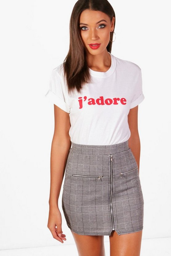 T-Shirt Slogan J'Adore Tall