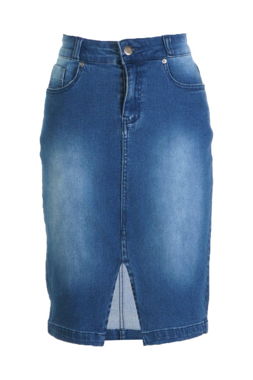 Minifalda Denim medio Tall Azul con Western vRBqn1vr