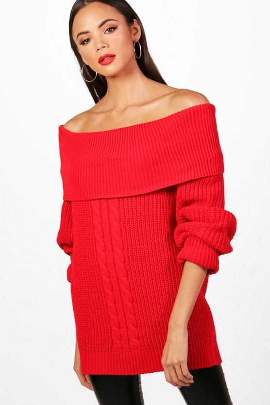 Tall Off The Shoulder Jumper