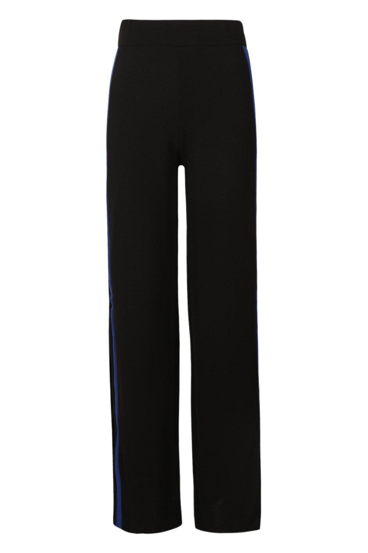 Contrast Wide Tall Leg cobalt Trouser Panel TRwwdq7