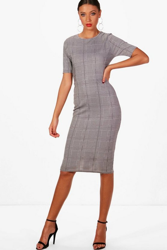 Tall Check Shift Dress