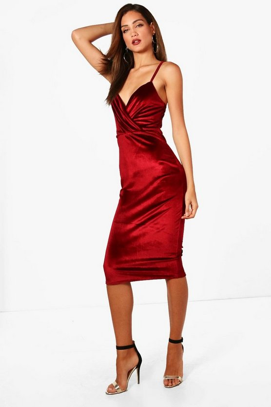 Tall Velvet Bodycon Dress