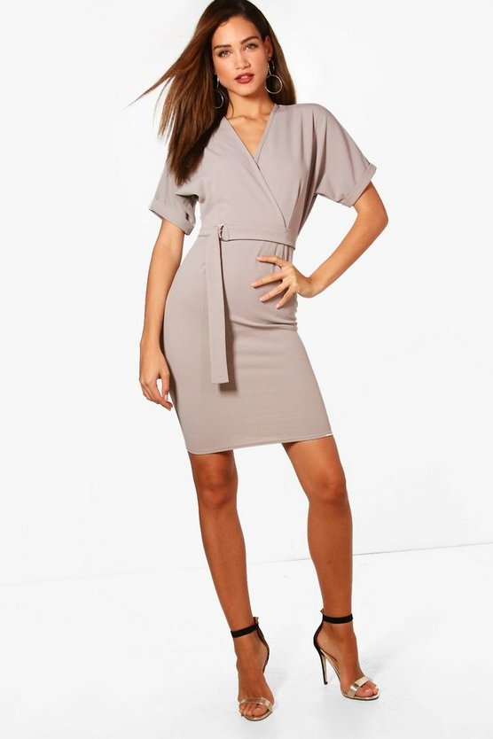 Tall Belted Wrap Dress