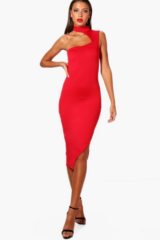 Tall One Shoulder Detail Bodycon Dress