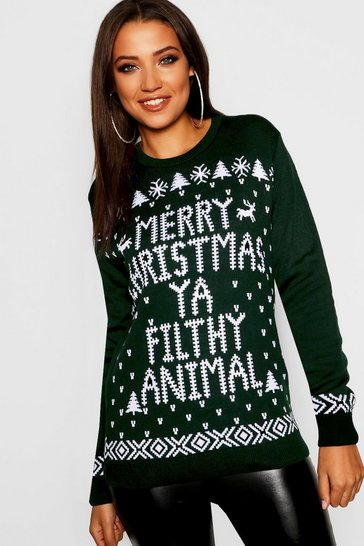 Bottle Tall Filthy Animal Christmas Jumper