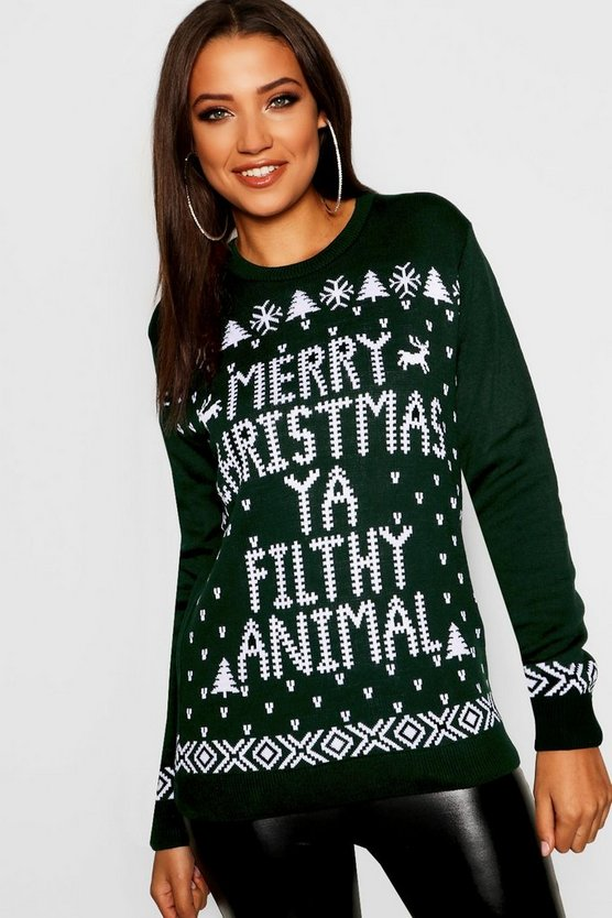 Tall Filthy Animal Christmas Jumper