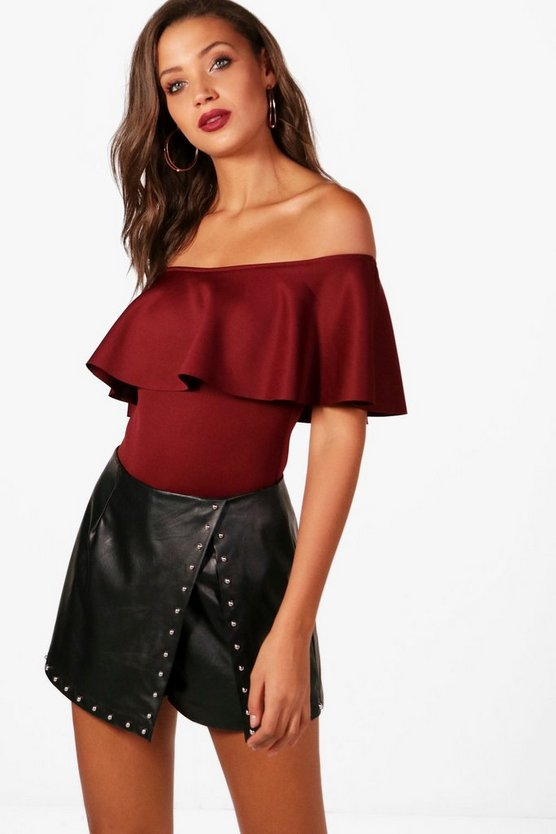 Tall Off The Shoulder Ruffle Bodysuit