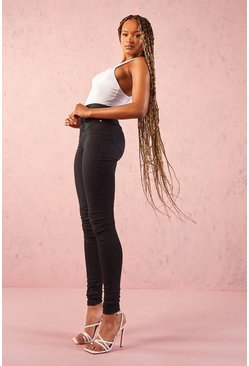 Womens Tall  Basic Black Denim Jeggings