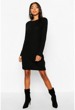 Black Tall Soft Knit Jumper Dress