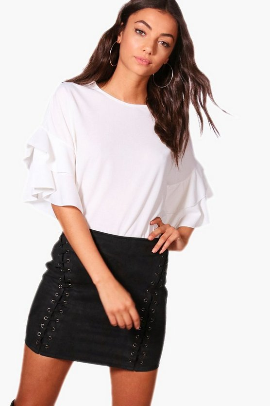 Tall Alice Frill Sleeve Top