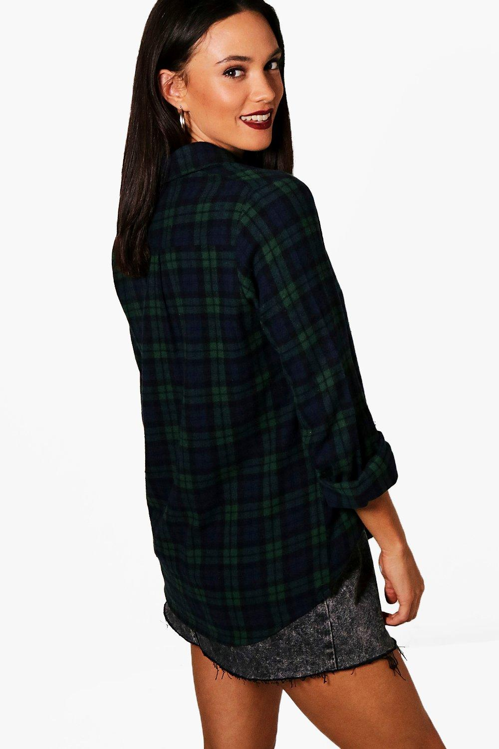 Checked Tall green Shirt Shirt green Checked Tall q47nwfpP