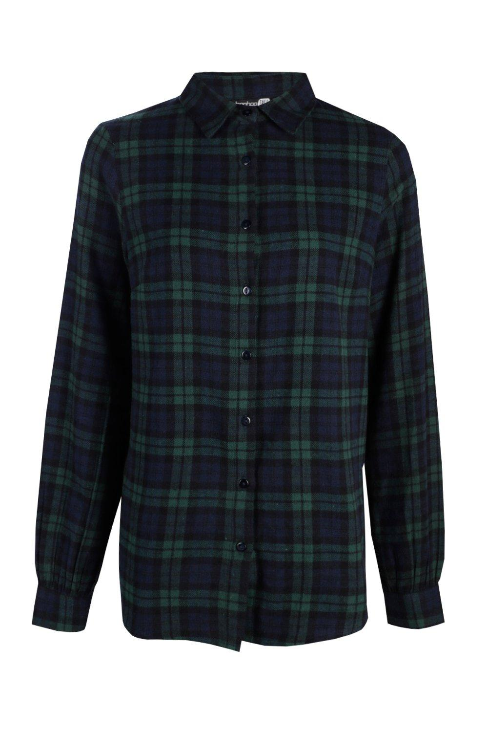 Tall Checked green Shirt Tall Shirt Checked green E5ErqB4x