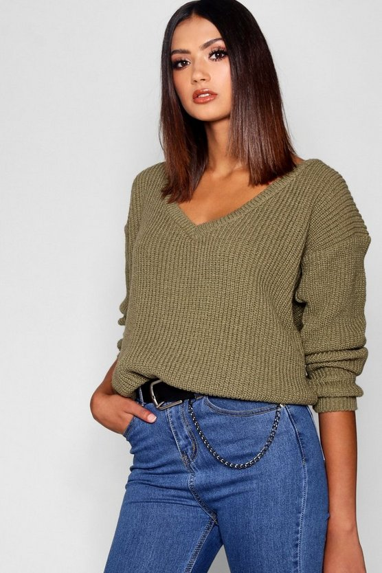 Tall Oversized V Front Jumper