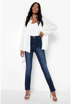 "Womens Blue Tall  38"""" Leg High Waist Jeans"